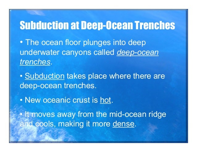 Sea floor spreading notes jenny for How does subduction change the ocean floor