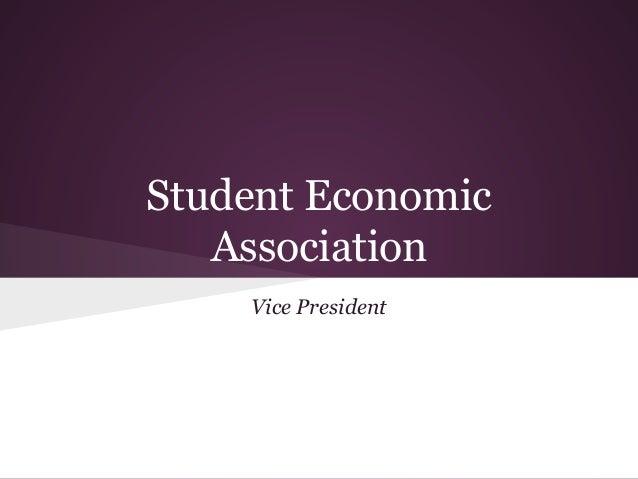 Student Economic Association Vice President