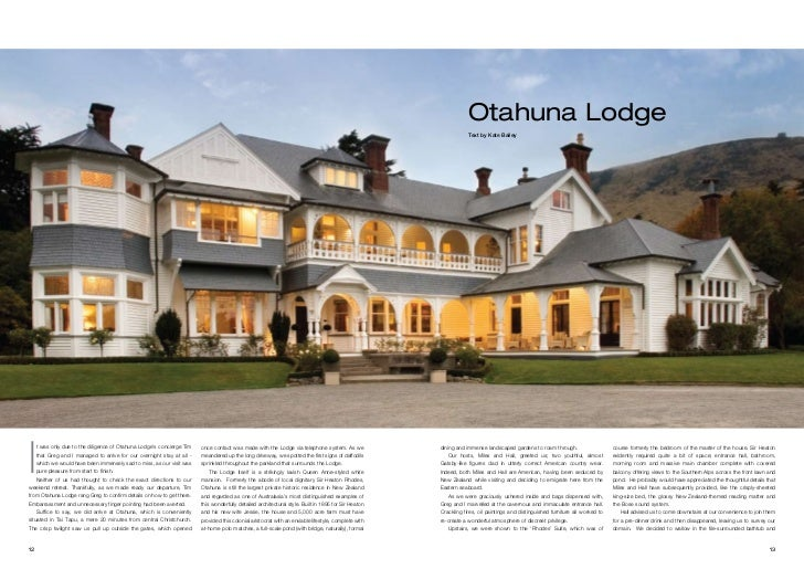 Otahuna Lodge                                                                                                             ...