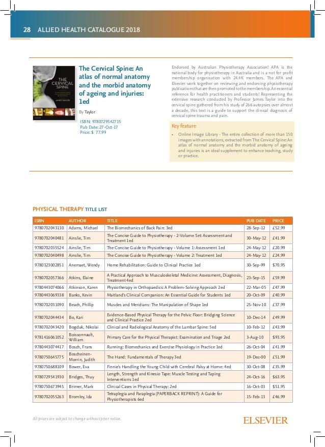 SEA allied health catalogue 2018 final r-mar18