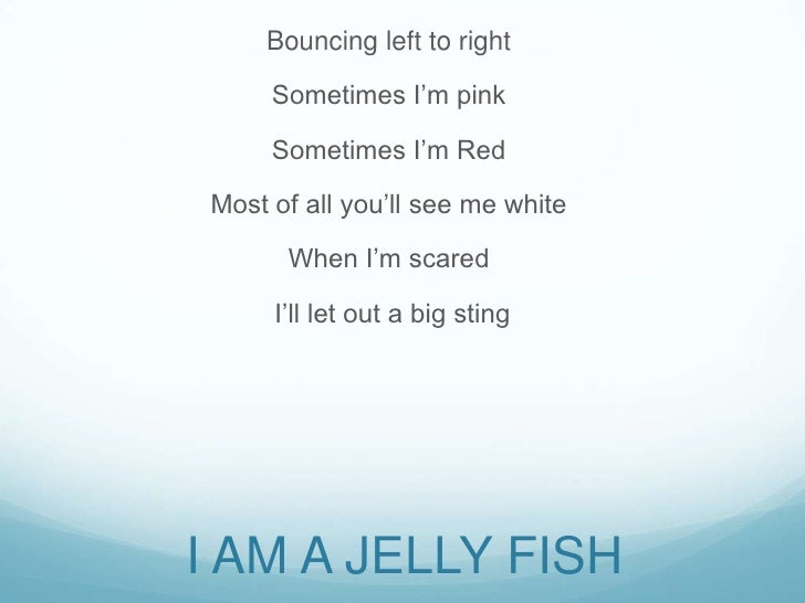 Sea animals poem 5 for What kind of fish am i