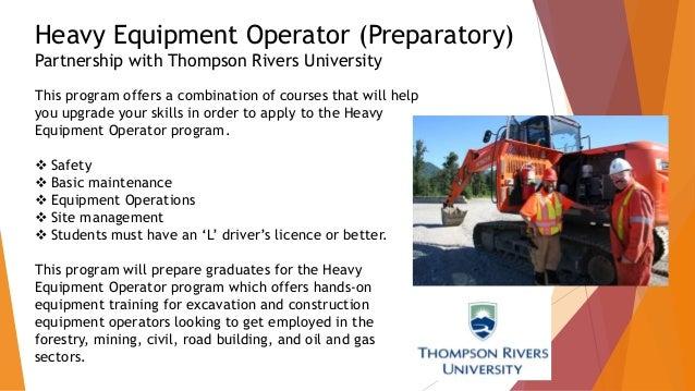 17. Heavy Equipment Operator ...