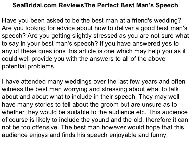 how to write a best man speech for best friend Free tips and advice from professional comedy writers on how to write your best man's speech get access to our database of over 4000 ice breakers, jokes and quotes.