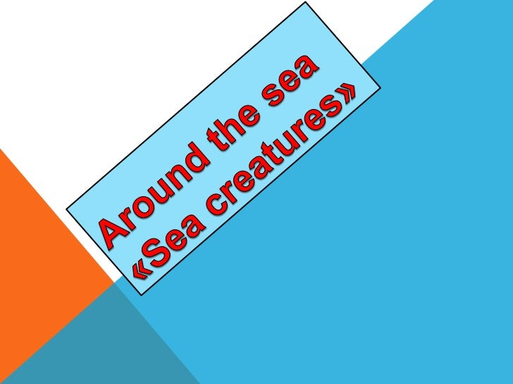 Aroundthe sea«Sea creatures»<br />