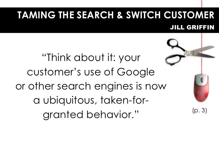 Taming the Search-and-Switch Customer Slide 2