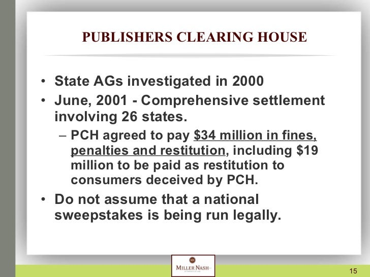 an analysis of the publishers clearing house sweepstakes or scam