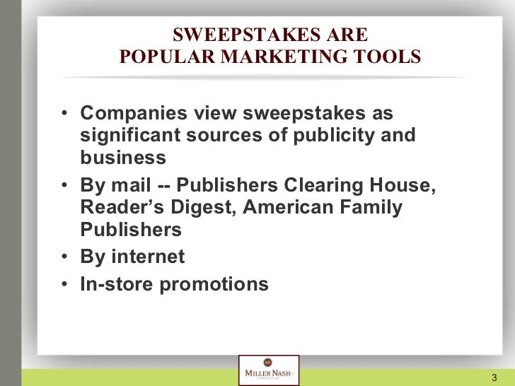 Presentation on Sweepstakes and Contests