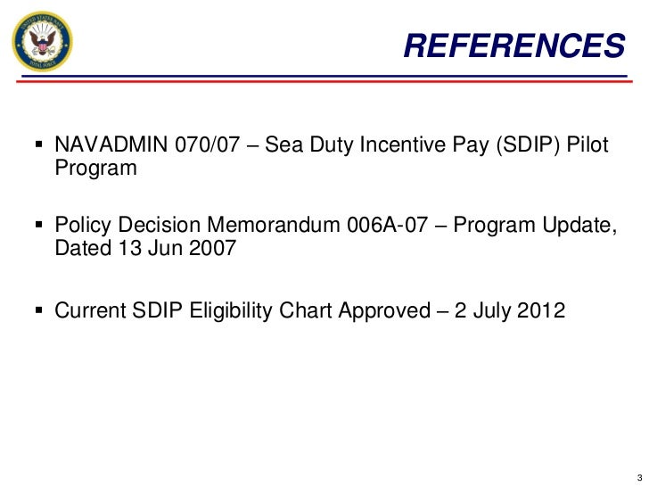 Sea duty incentive pay by joseph ferdinand