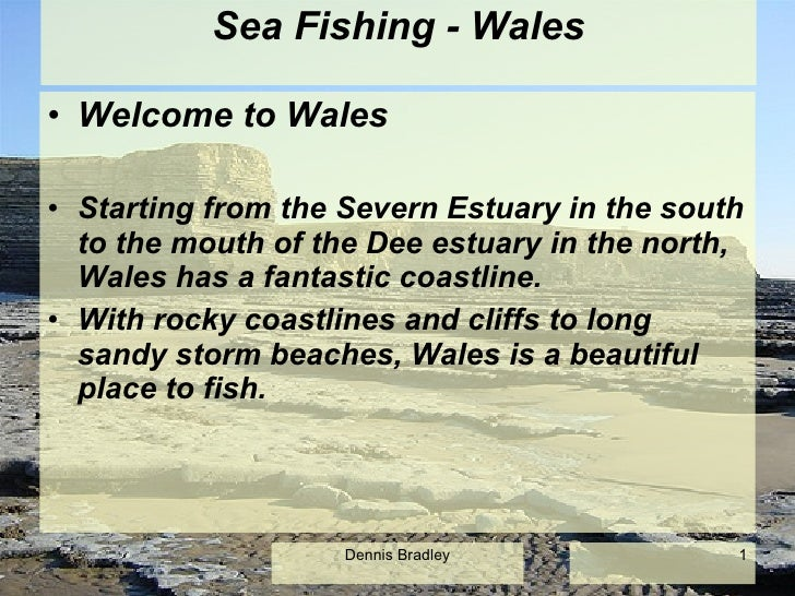 Sea Fishing - Wales <ul><li>Welcome to Wales </li></ul><ul><li>Starting from the Severn Estuary in the south to the mouth ...