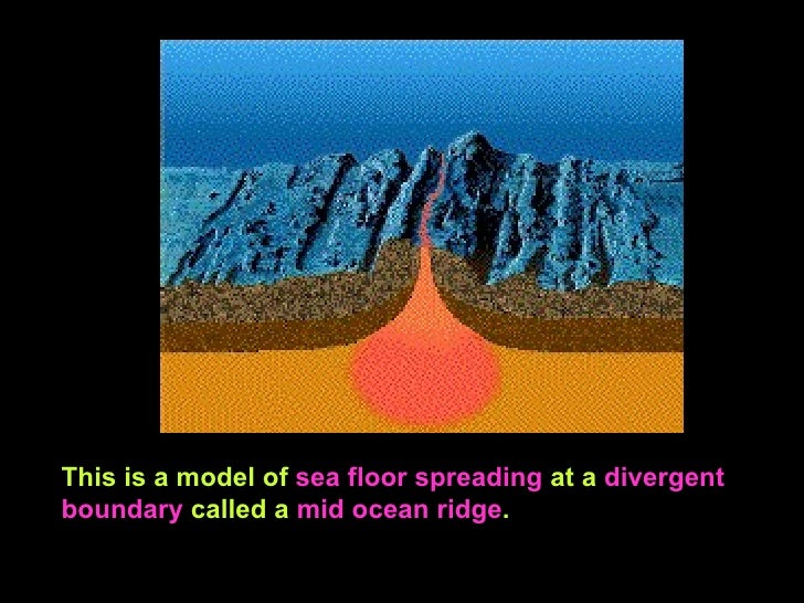 ... 10. This Is A Model Of Sea Floor Spreading ...