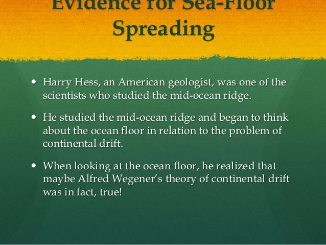 Sea Floor Spreading Powerpoint