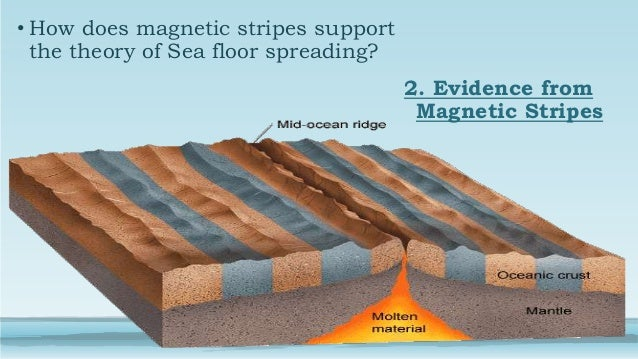 Seafloor spreading theory discuss 3 for Evidence for sea floor spreading has come from
