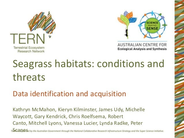 Seagrass habitats: conditions and threats Data identification and acquisition Kathryn McMahon, Kieryn Kilminster, James Ud...