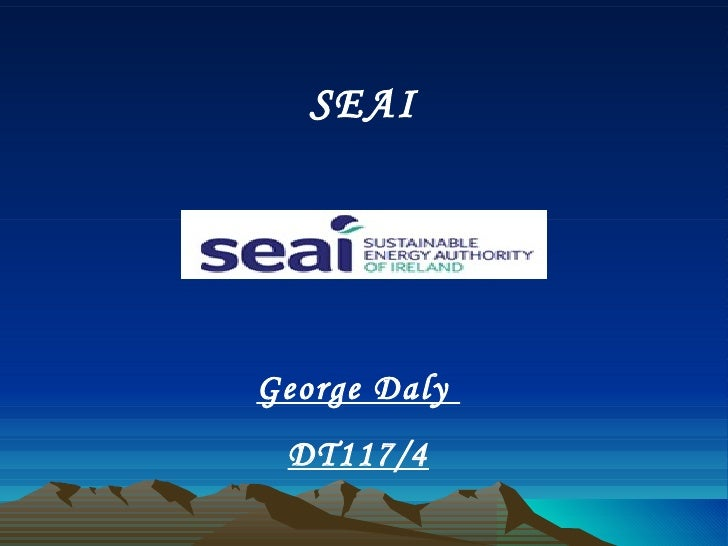 SEAI George Daly  DT117/4