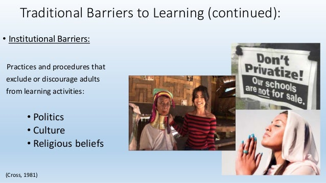 barriers to learning and development Intrinsic and extrinsic barriers to learning examples - essay speech about inclusive education good morning principal and fellow colleagues i have been given the task to talk to you about inclusive education and the intrinsic and extrinsic barriers to learning and development.