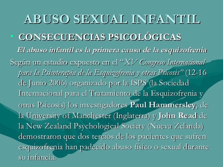 Consecuencias de una persona abusada sexualmente