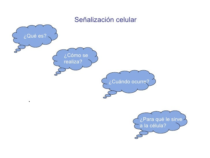 Señalizaci ón celular . ¿Q ué es? ¿Para qu é le sirve  a la célula? ¿Cu ándo ocurre? ¿C ómo se  realiza?