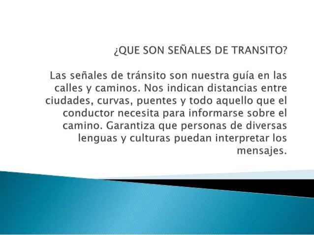 Señales de transito Slide 2
