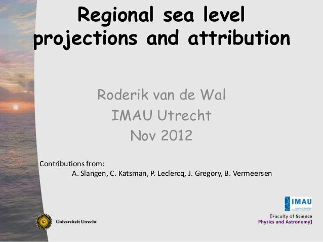 Regional sea level      Click to edit Master title style     projections and attribution• ____ __ ____ Master____ styles  ...