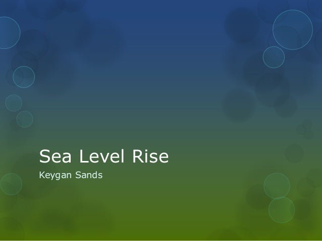 Sea Level RiseKeygan Sands