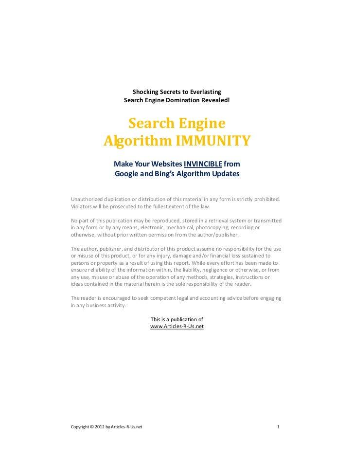 Shocking Secrets to Everlasting                           Search Engine Domination Revealed!                   Search Engi...