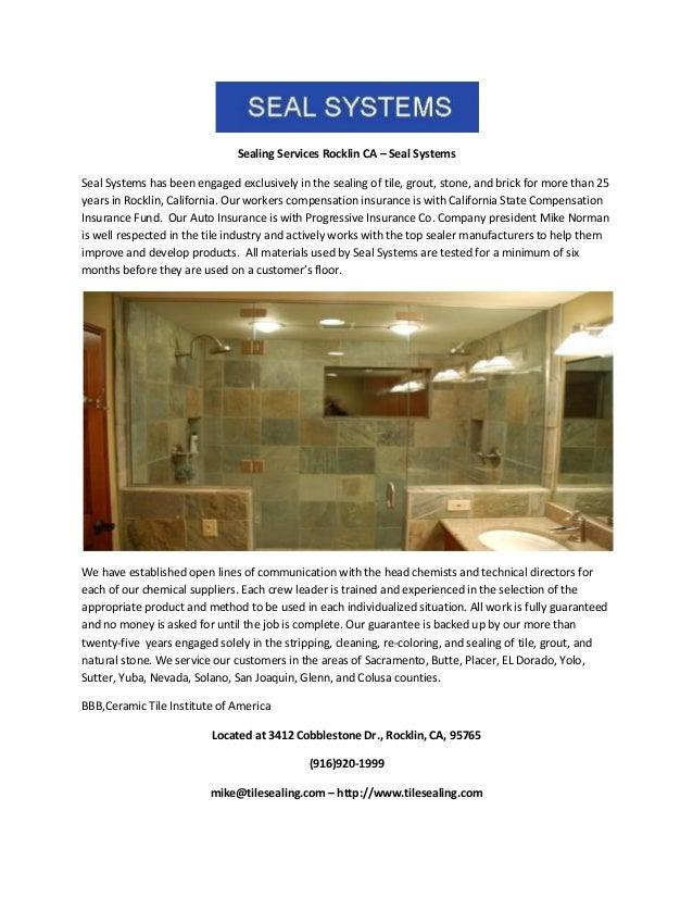 Sealing Services Rocklin Ca Seal Systems