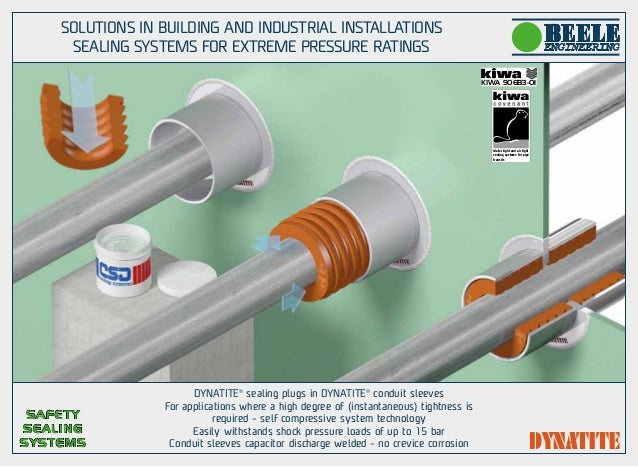 Sealing solutionsfor building and industrial installation