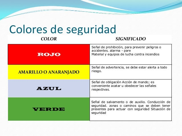 Se alizaci n de seguridad for Amarillo y rojo que color da