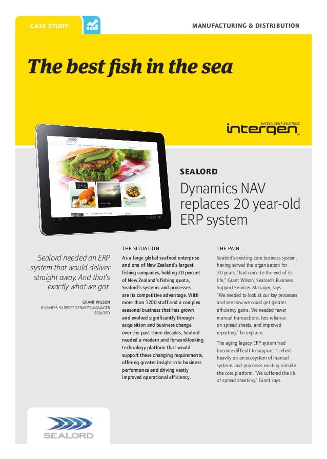 Manufacturing & Distribution  case study  The best fish in the sea  Sealord  Dynamics NAV replaces 20 year-old ERP system ...