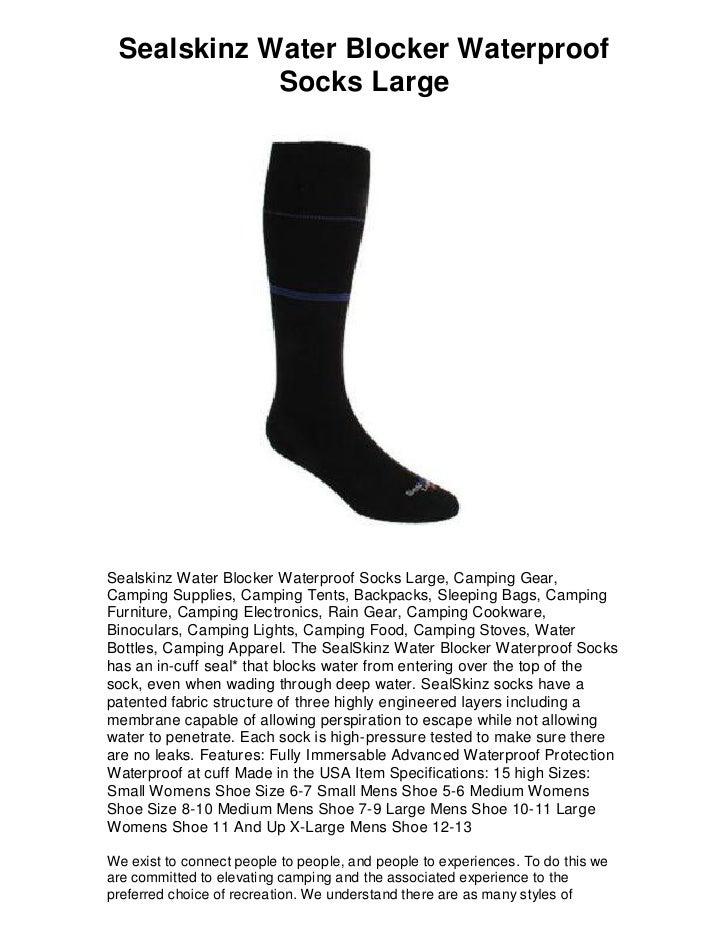 SEALSKINZ Water Blocker Sock