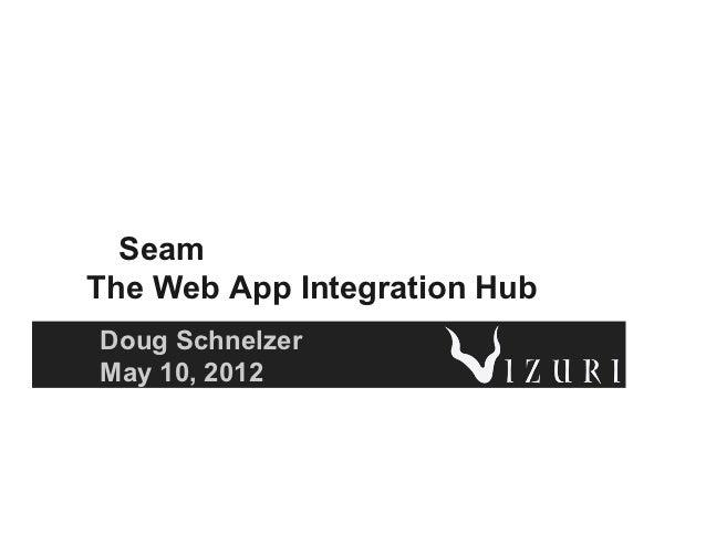 SeamThe Web App Integration HubDoug SchnelzerMay 10, 2012