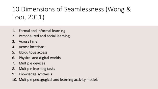 Seamless Learning