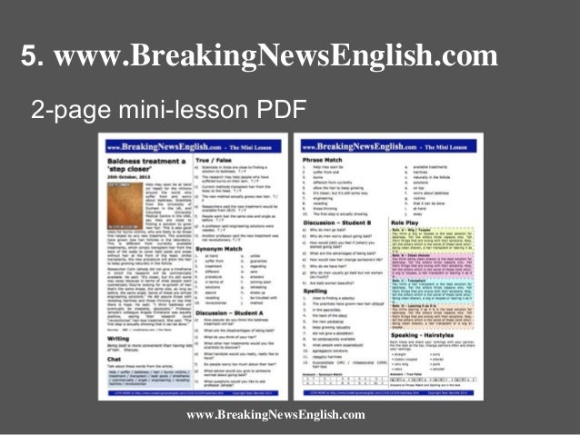 5. www.BreakingNewsEnglish.com 2-page mini-lesson PDF  www.BreakingNewsEnglish.com