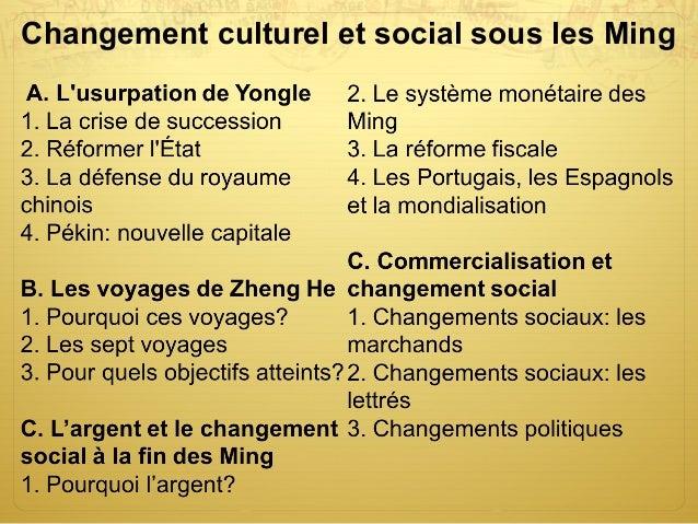Changement culturel et social sous les Ming