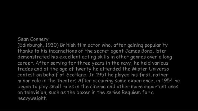 Sean Connery (1930 -  2020) Slide 3