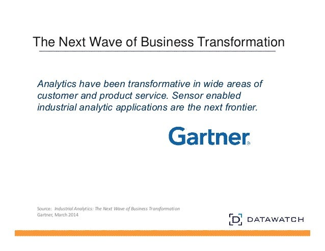 The Next Wave of Business Transformation  Analytics have been transformative in wide areas of  customer and product servic...