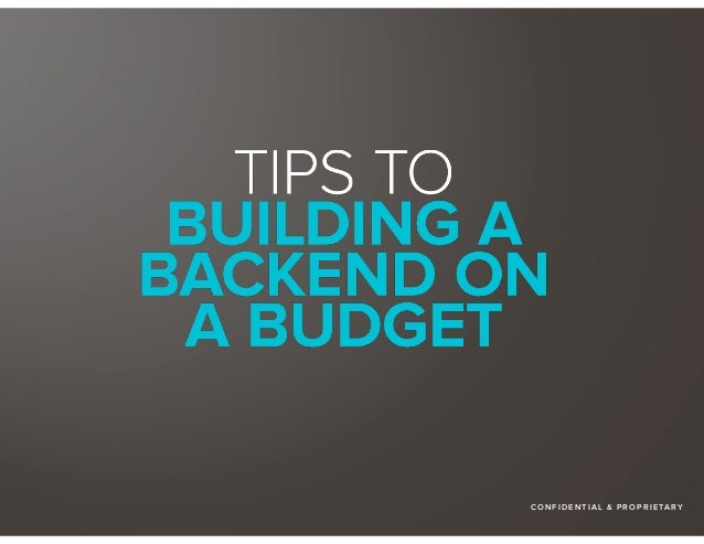 Building The Backend On The A Budget The Honest Company