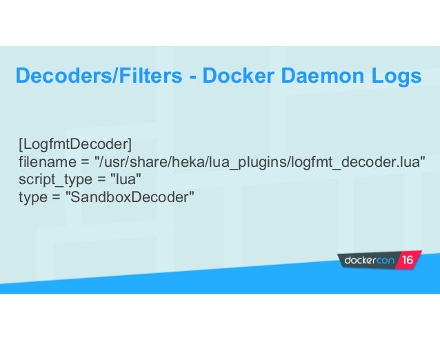 Filter Containers Docker