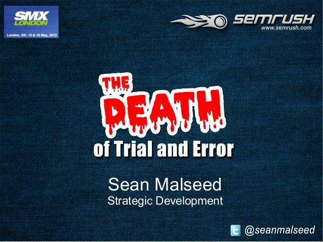 Sean Malseed Strategic Development