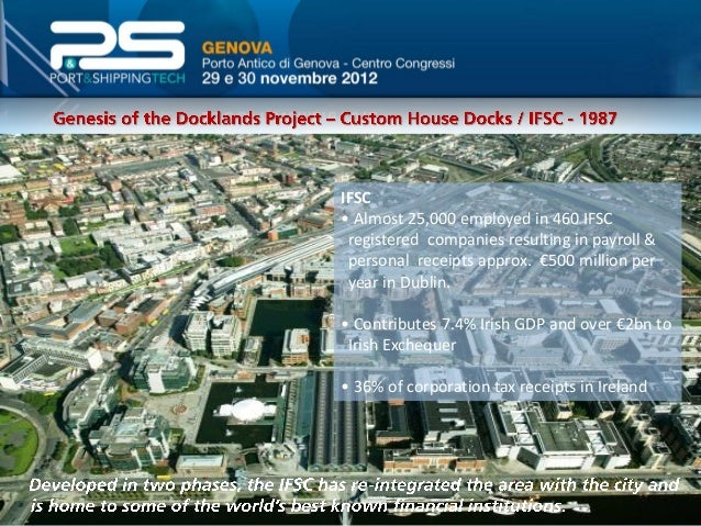 Dublin Docklands • Over €5 billion of public and private investment up to 2008 • 1,000,000m2 constructed between 1997 and ...