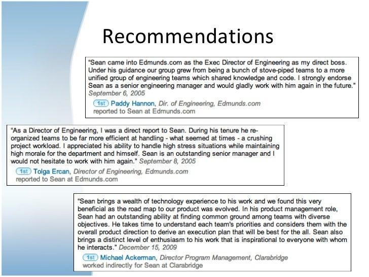 5 recommendations 6