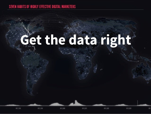 SEVEN HABITS OF HIGHLY EFFECTIVE DIGITAL MARKETERS  Get the data right