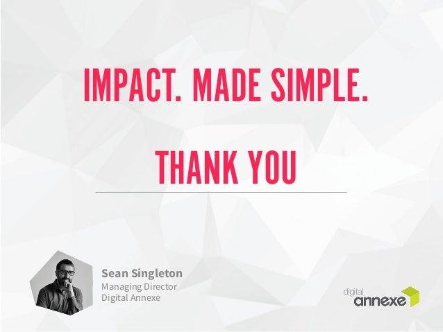 IMPACT. MADE SIMPLE.  THANK YOU  Sean Singleton  Managing Director  Digital Annexe