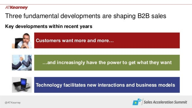 @ATKearney Three fundamental developments are shaping B2B sales Key developments within recent years …and increasingly hav...