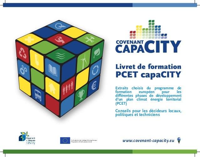 Livret de formation  PCET capaCITY  Extraits choisis du programme de  formation européen pour les  différentes phases de d...