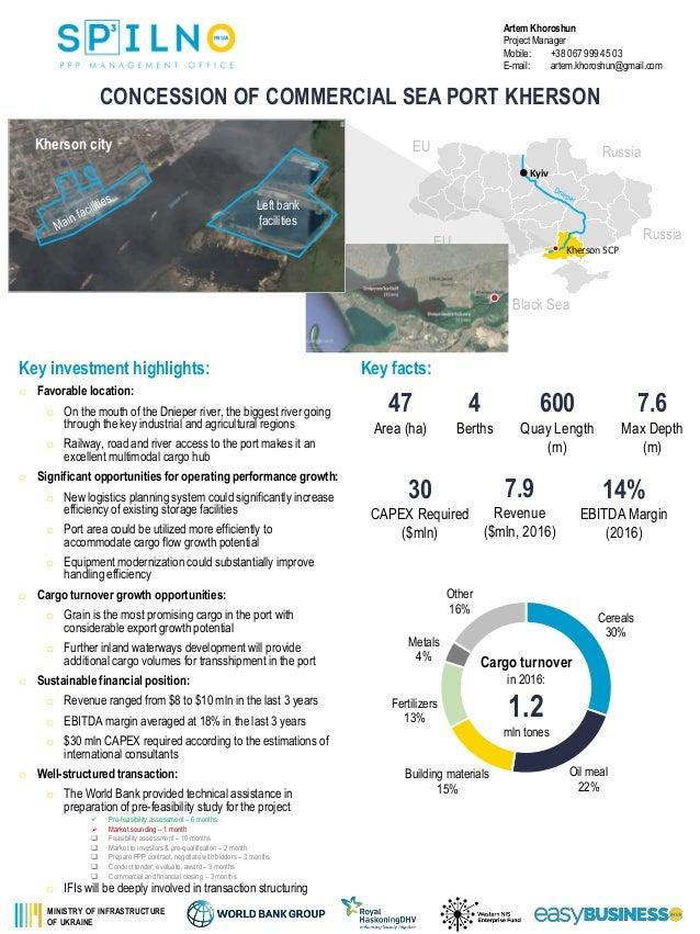 Sea port concession opportunities in Ukraine Slide 2