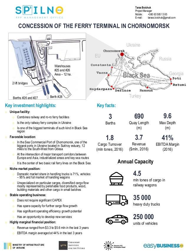 Sea port concession opportunities in Ukraine Slide 3