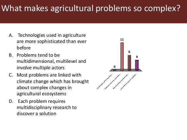 examples of farming problems and complexities A familiar problem 9 today's challenges 11 for example, the importance of risk management is poorly understood and the the challenges of complex it projects) part i: the challenges of software complexity engineering the.