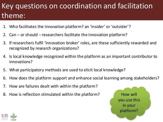 research papers on facilitation Teacher discussion facilitation: a new measure and its associations with  to  request information to use the instrument for research purposes, please  what (if  any) changes you're going to work to implement, and how they.