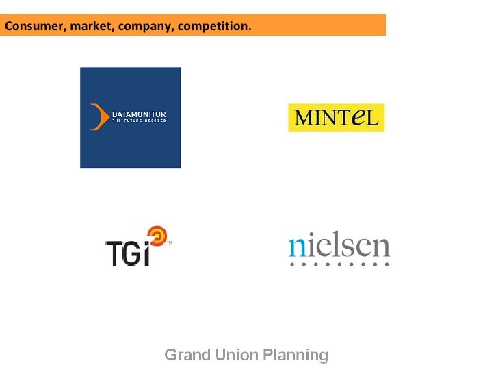 Consumer, market, company, competition.